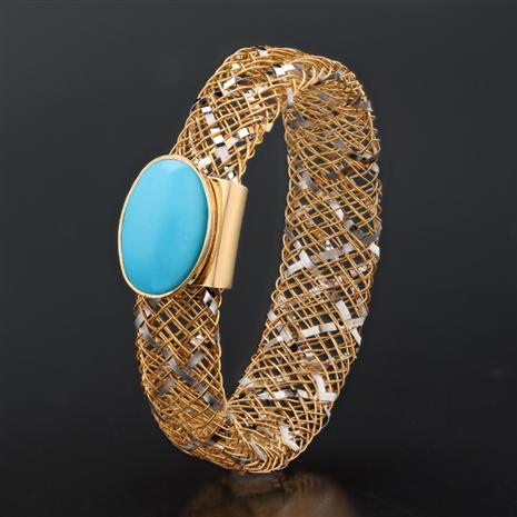 Oro e Gemme Turquoise 14K Gold Ring