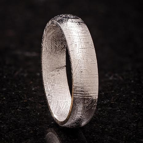 Sterling Silver-finished Meteorite Forever Ring