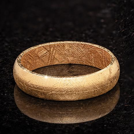 Gold-finished Meteorite Forever Ring