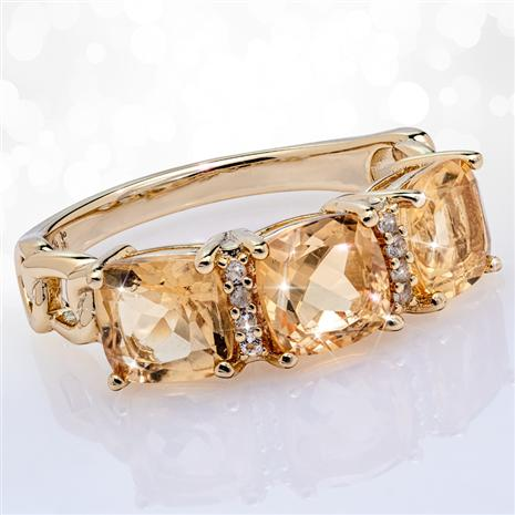 Champagne Citrine Ring