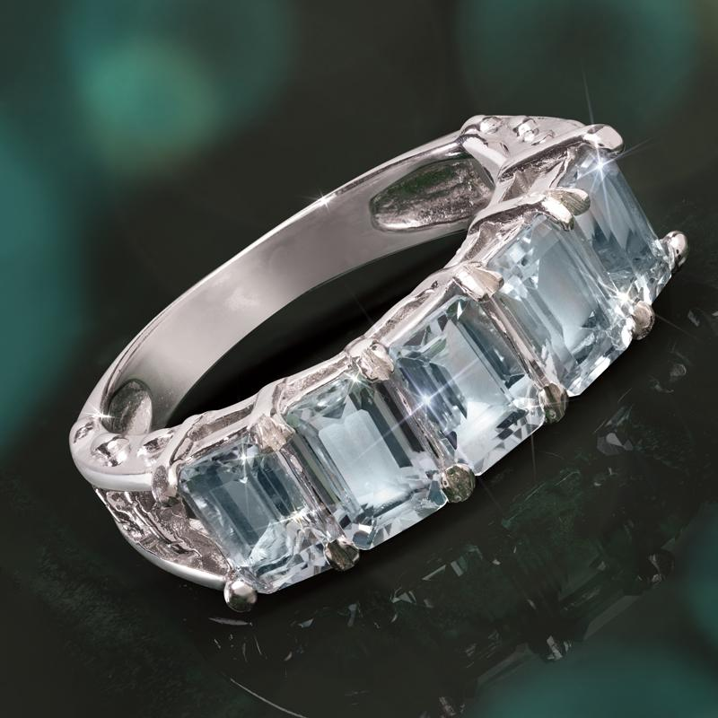 Aquamarine Frost Ring