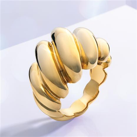 14K Italian Yellow Gold Sculpted Ring