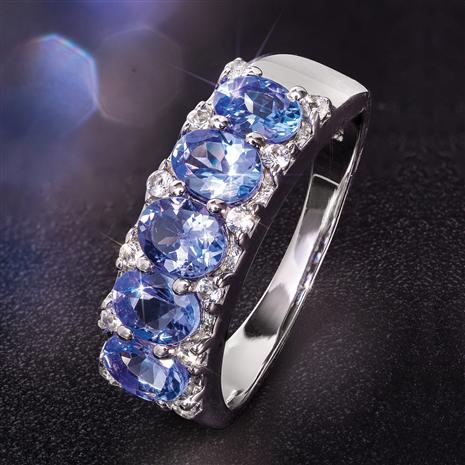 Tanzanite 5-Stone Rarity Ring