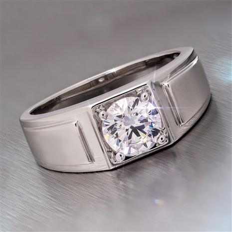 Men's Moissanite Starman Ring (1 carat)