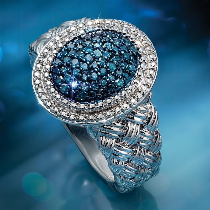 Dreamweaver Blue Diamond Ring