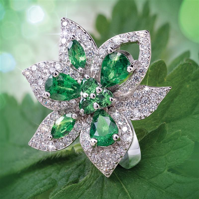 Green in Bloom Ring