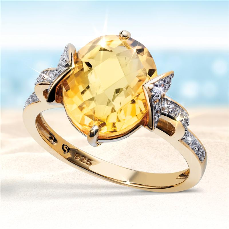 All Things Citrine Ring