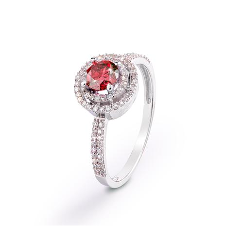 Sunset Diamond Double Halo Ring (.80 ctw)