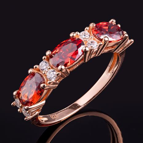 Stress-Free Glamour Ring (Ruby Red)