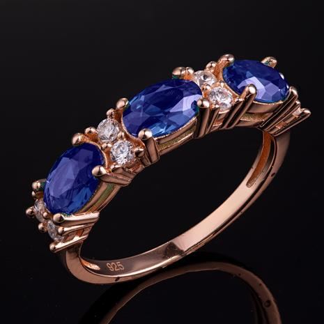 Stress-Free Glamour Ring (Sapphire Blue)