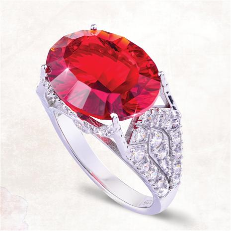 Red Helenite Empress Ring