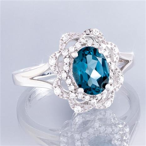 London Blue Topaz Embrace Ring