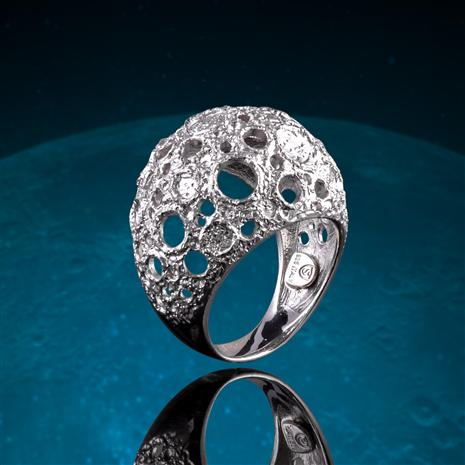 Italian-Made Moonscape Ring