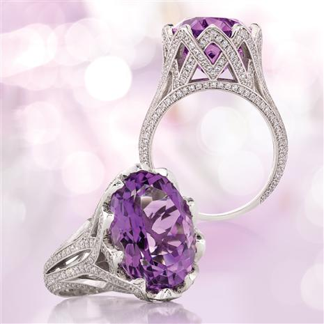Royal Crown Amethyst Ring