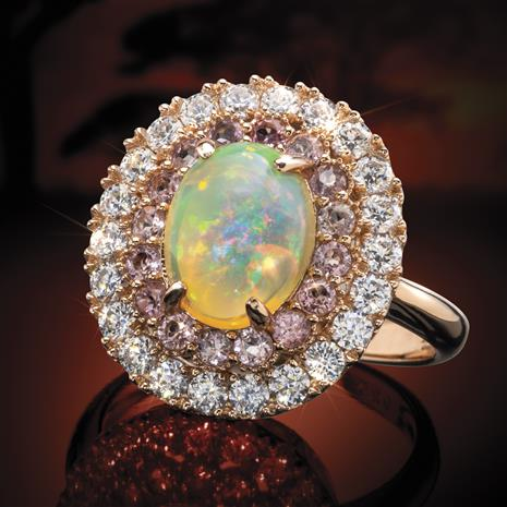 Rains Down in Africa Opal Ring