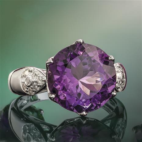 Another Round Amethyst Ring