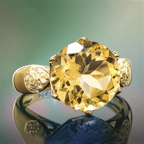 Another Round Citrine Ring