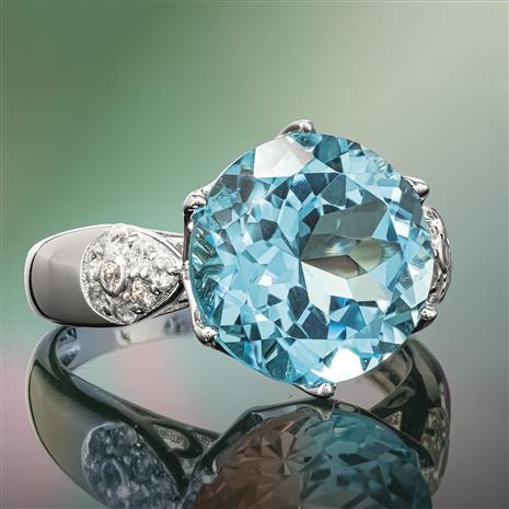 Another Round Blue Topaz Ring