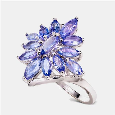 Sunburst Tanzanite Ring