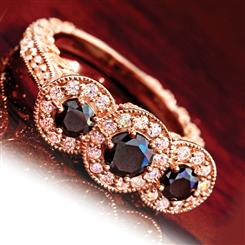 Rosella Black Diamond Ring