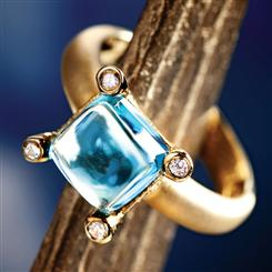 Raindrop Blue Topaz Ring