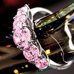 Palos Pink  Diamondaura® Platinum-finished Ring