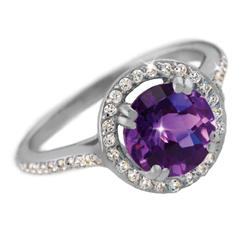 Amethyst & Diamond<em>Aura</em>&reg; Ring