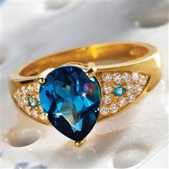 Rendezvous London Blue Topaz Ring
