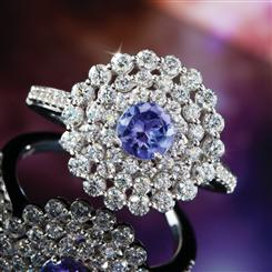 Sunset Tanzanite Ring