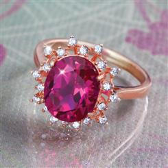 Scienza® Ruby Couplet Ring