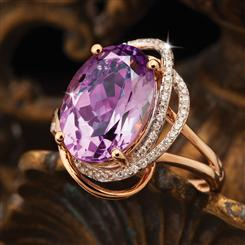14K Rose Gold Madagascar Amethyst Ring
