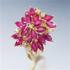 10K Yellow Gold Zambezi Ruby Ring