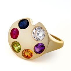 Gemstone Palette Ring