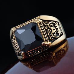 Gallantry Onyx Mens Ring
