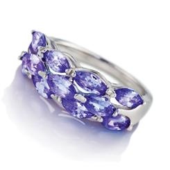 Tanzanite Lightning Ring