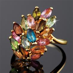 Tourmaline Rainbow Ring