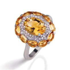 Helios Citrine Ring