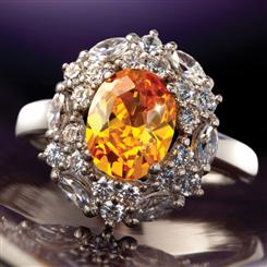 Sunfire Diamond<em>Aura</em>&reg; Ring