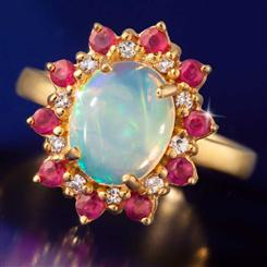 Opal & Ruby Royal Romance Ring