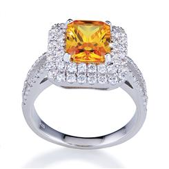 DiamondAura Honey Ring