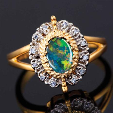 Fire and Ice Opal Ring