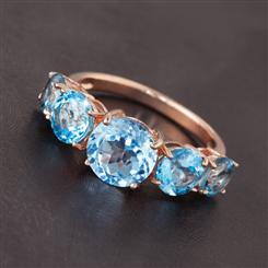 Electric Blue Topaz Ring