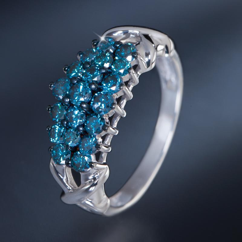 Stauer Jewelry Rings >> Sterling Silver Eyes of Rebecca Blue Diamond Ring w7528 | Stauer.com