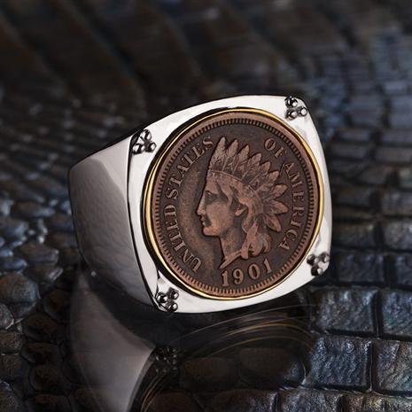 1901-1909 Indian Head Penny Mens Ring