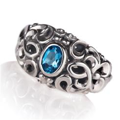 Blue Topaz Enchantment Collection Ring