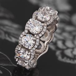 Princess Crown DiamondAura® Ring