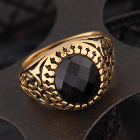 Checkmate Mens Onyx Ring