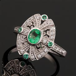 Moderne Emerald Ring
