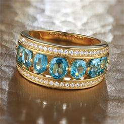 Epoch Blue Zircon Ring