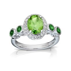 Peridot & Chrome Diopside Beauty Gemstone Ring